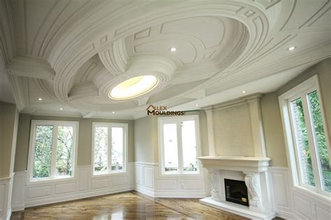 coffered ceiling  page custom millwork wainscot