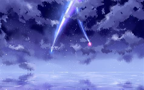 wallpaper   beautiful sky meteor anime