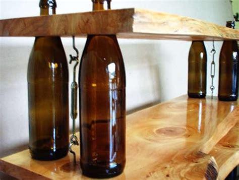 wine bottles shelves recyclart