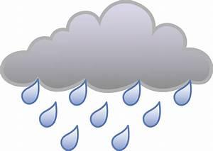 Rain Cloud Weather Symbol - Free Clip Art