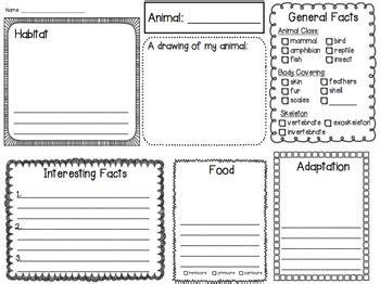 animal research template  shira teachers pay teachers