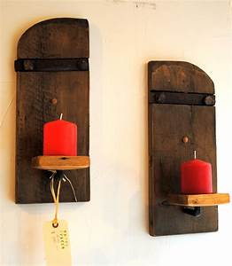 Rustic Wall Mounted Candle Sconces (Set Of 2) Empty Spaces