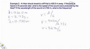 14.2 Wave Speed Calculations Example 2 - YouTube