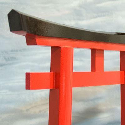 japanese shinto shrine gate small wood torii