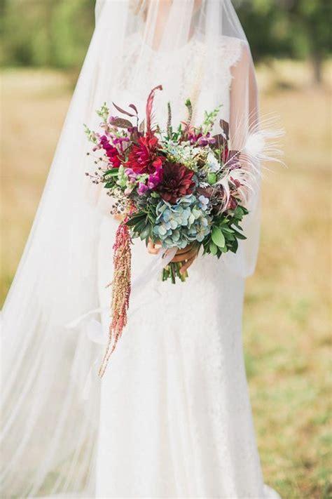 Raspberry and mint bohemian wedding bouquets. Luxe Bohemian Wedding Ideas - Polka Dot Bride   Beautiful ...