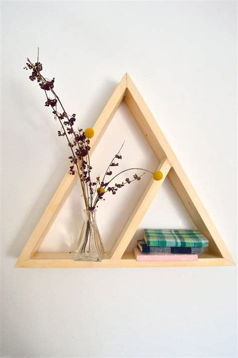 triangle wall shelf wooden triangle shelves for your modern and contemporary