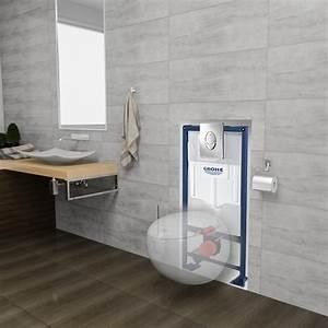 Toilettes Suspendues Grohe : pack wc suspendu complet de la marque grohe sous forme d 39 oeuf ~ Nature-et-papiers.com Idées de Décoration