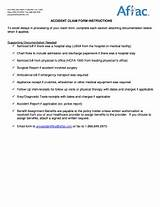 Aflac Accident Claim Form Photos