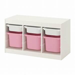 Ikea Aufbewahrung Boxen : trofast aufbewahrung mit boxen wei rosa ikea ~ Frokenaadalensverden.com Haus und Dekorationen
