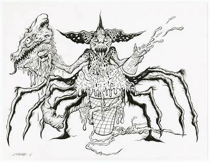 Gremlin Spider Drawing