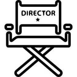 chaise de directeur de cin 233 ma t 233 l 233 charger icons gratuitement
