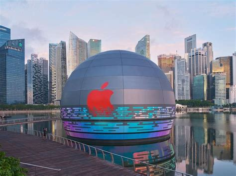 apple  open floating store  singapore retaildetail