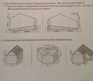 Umbauten Raum Berechnen : fl che wie soll ich sie berechnen giebelwand fl che und umbauten raum berechnen mathelounge ~ Themetempest.com Abrechnung