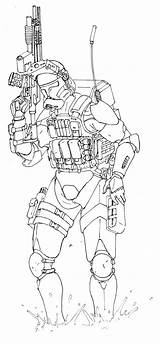 Clone Trooper Coloring 501st Phase Template Sketch sketch template