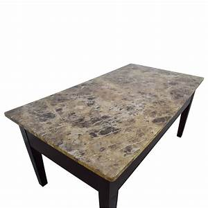 88 off marble top coffee table with storage tables With marble coffee table with shelf
