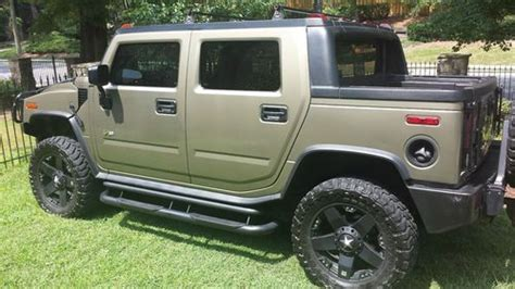 awesome hummer car find used hummer h2 sut sand green w custom interior