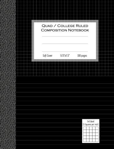 quad college ruled composition notebook