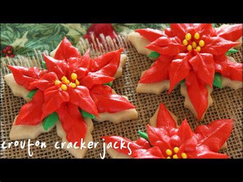 christmas poinsettia sugar cookies youtube