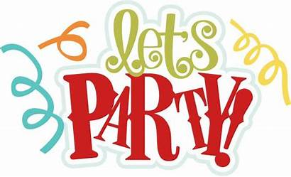 Party Birthday Clipart Title Scrapbook Svg Lets