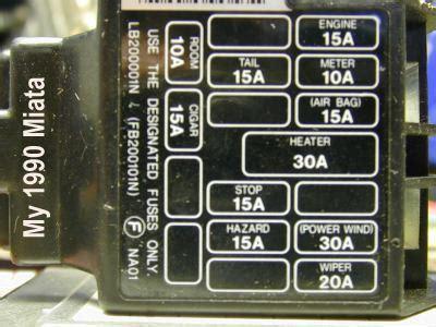 94 Mazda Miatum Fuse Diagram by Mx5 Interior Fuse Box Brokeasshome