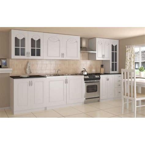 elements haut de cuisine cuisine complète 300 cm dina blanche avec moulures achat