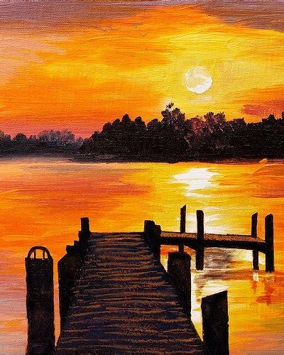 paint nite sunset dock