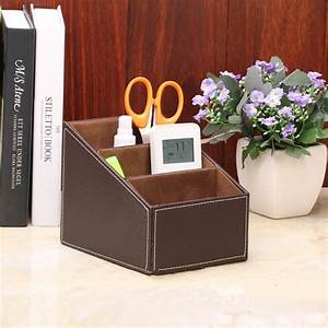 Leather, Remote, Control, Holder, And, Desk, Organizer