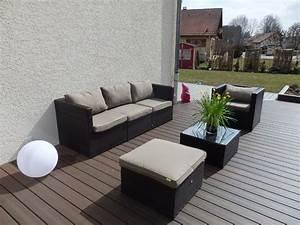 Salon Jardin Resine Tressée : mobilier d exterieur en resine tressee ~ Premium-room.com Idées de Décoration