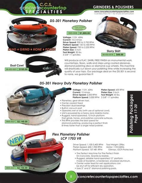 page 11 of concrete countertop tools