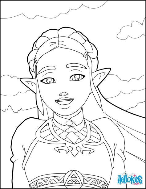 zelda breath   wild coloring pages hellokidscom