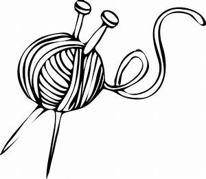 Yarn and Knitting Needles Clip Art | A River of Yarn ...