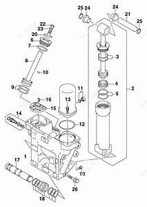 Johnson 2006 225  Tilt Cylinder
