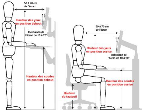 guide d ergonomie travail de bureau hauteur ergonomie
