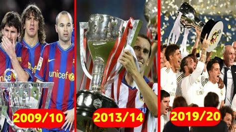 All La liga Winners from 1990 - 2020 - YouTube