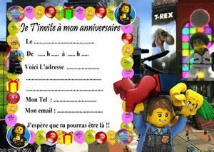 5 Cartes Invitation Anniversaire Lego City 02 D'autres En