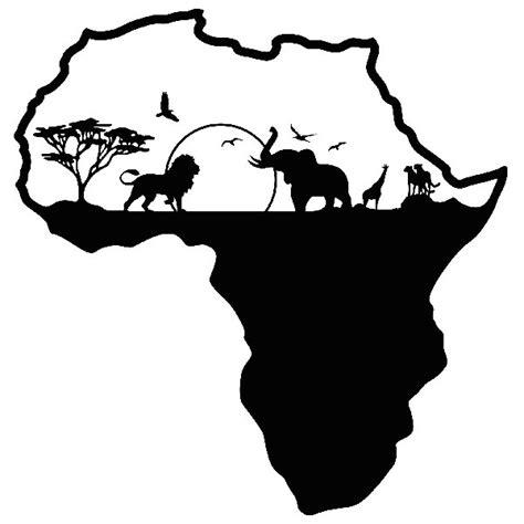 wandtattoo afrika silhouette skyline tiere