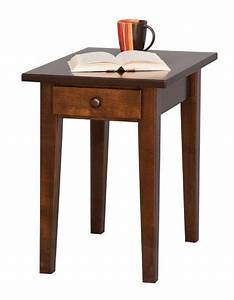 Handcrafted, Shaker, End, Table, From, Dutchcrafters, Amish, Furniture