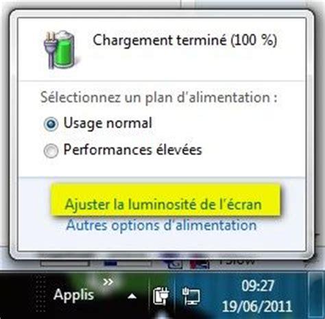 horloge bureau windows modifier la luminosité d 39 un écran de pc portable lecoindunet