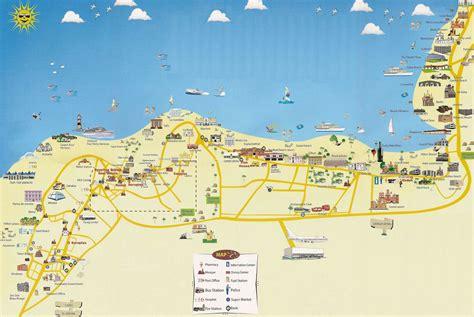 stadtplan von hurghada detaillierte gedruckte karten von