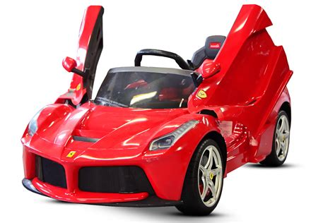 kinder elektro kidcars kinder elektroautos mit akku lizenz kinder elektro auto laferrari 2x 25w 12v rot