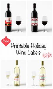 free printable holiday wine labels family fresh meals With free wine labels to print