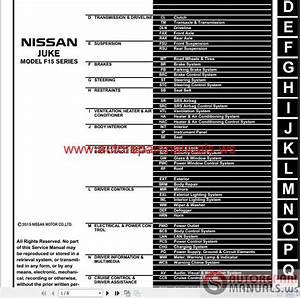 Nissan Juke 2016 Workshop Manual
