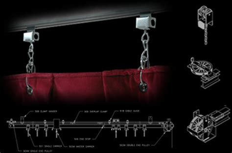 stage curtain track hardware black sheep enterprises