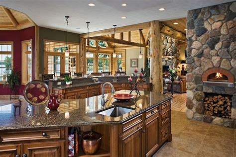 small kitchen sinks small log homes interior photos studio design 5544