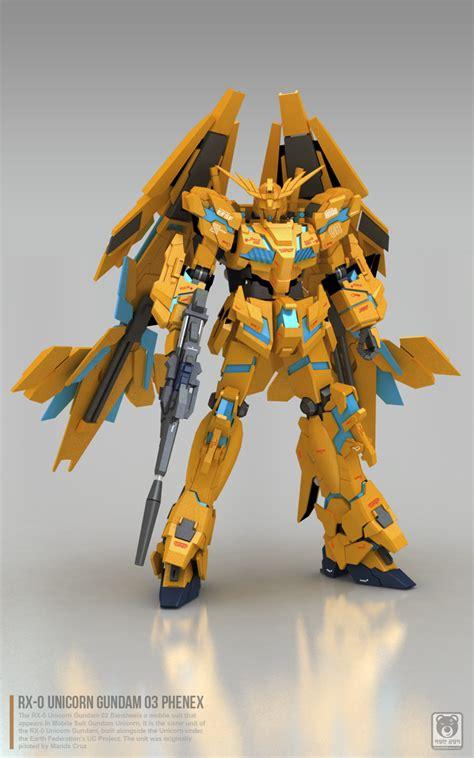 Raglan Gundam Gundam 03 gundam gundam papercraft 1 23 unicorn gundam 03