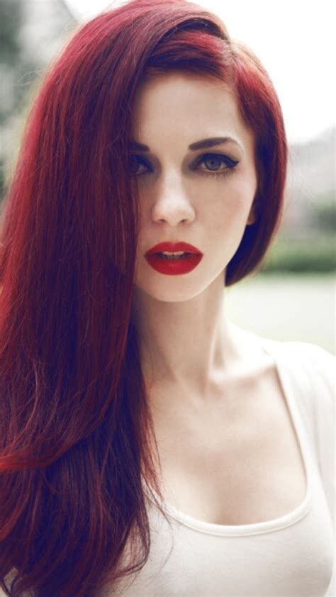 red hairs red lips girl iphone wallpaper iphone wallpaper