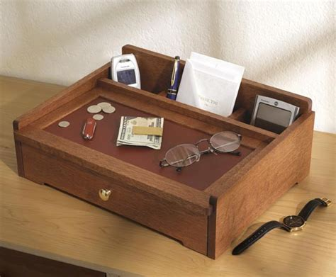 dresser top organizer dresser top valet woodworking plan from wood magazine