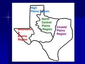 Texas Coastal Plains Region Map
