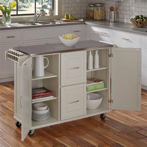 white kitchen cart home styles patriot white kitchen cart 4514 95 the home
