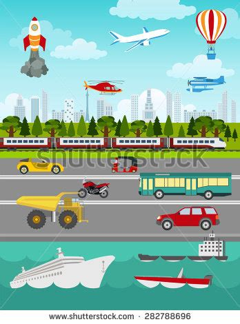 Transport Infographics Elements Cars Trucks Public Stock Vector 282788696 Shutterstock